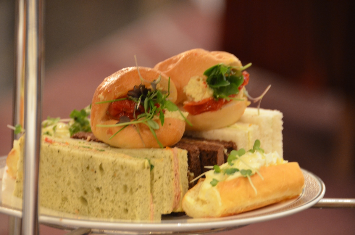 tea sandwiches palm court at the langham