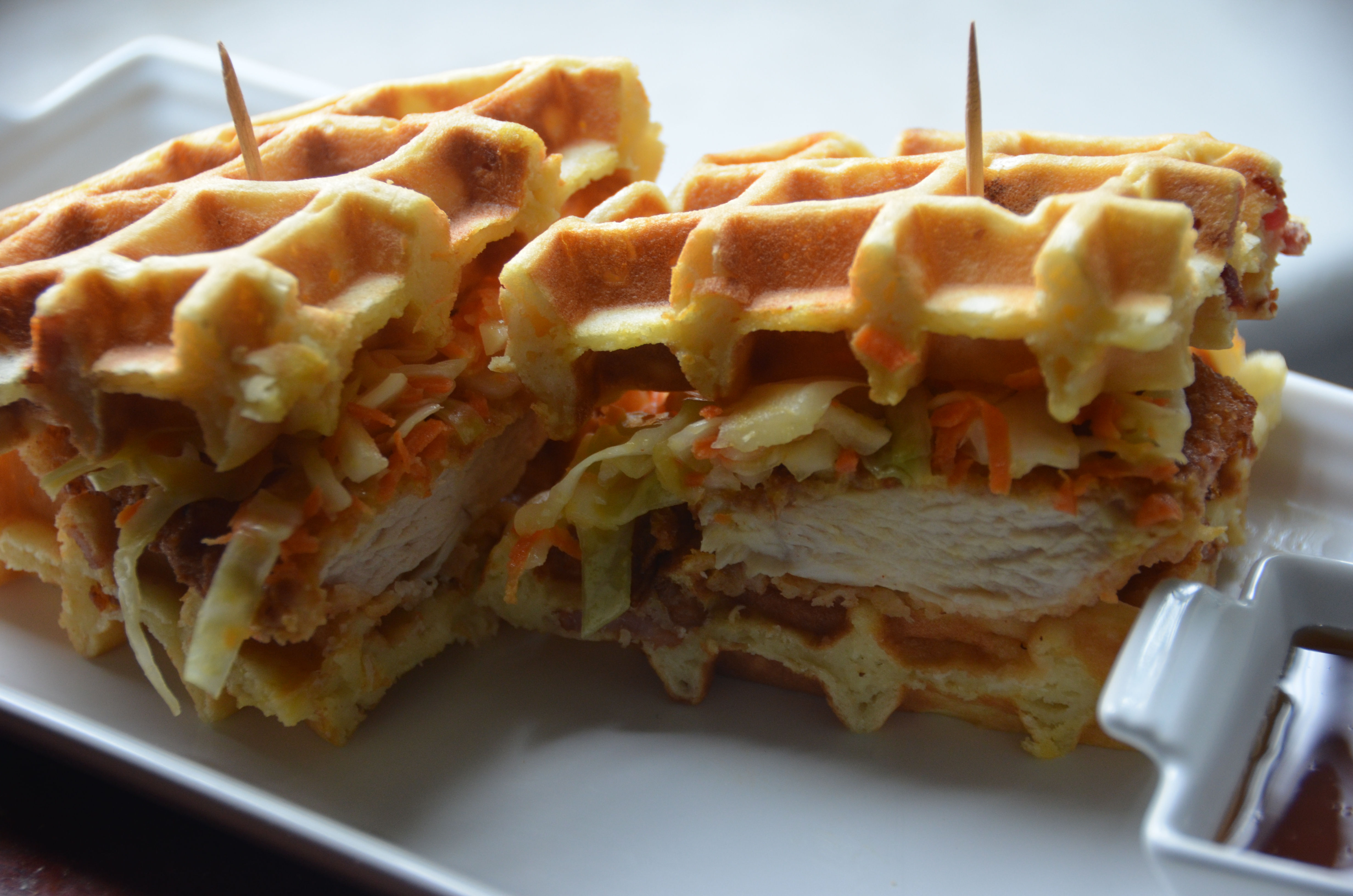 Chicken and Bacon Waffle Sandwiches | PrettyGirlsCook by Candice ...