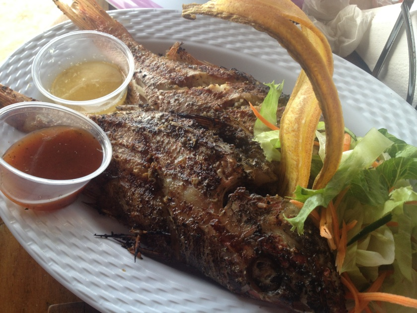 chill out hut jamaica grilled fish