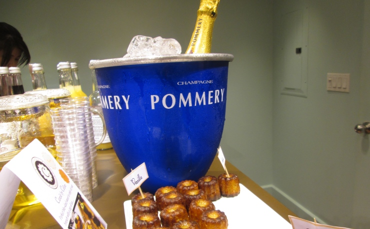 pommery champagne and vanilla canele by celine