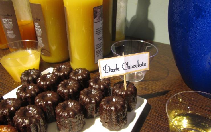 dark chocolate canele by celine