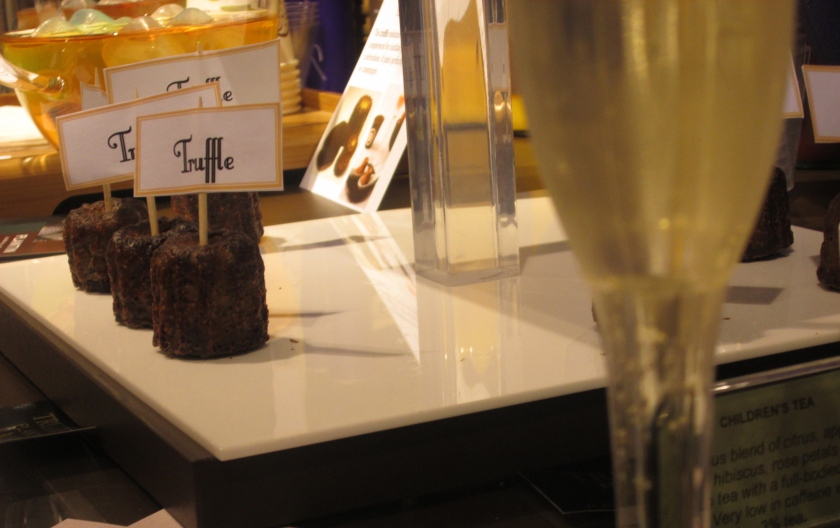 champagne and truffle canele