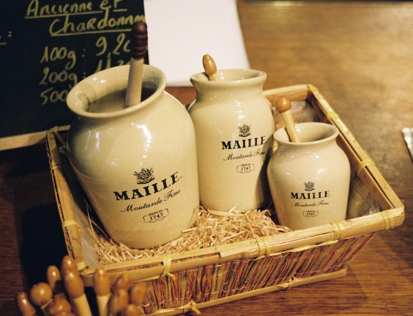 Maille Mustard On Tap Earthenware Jars