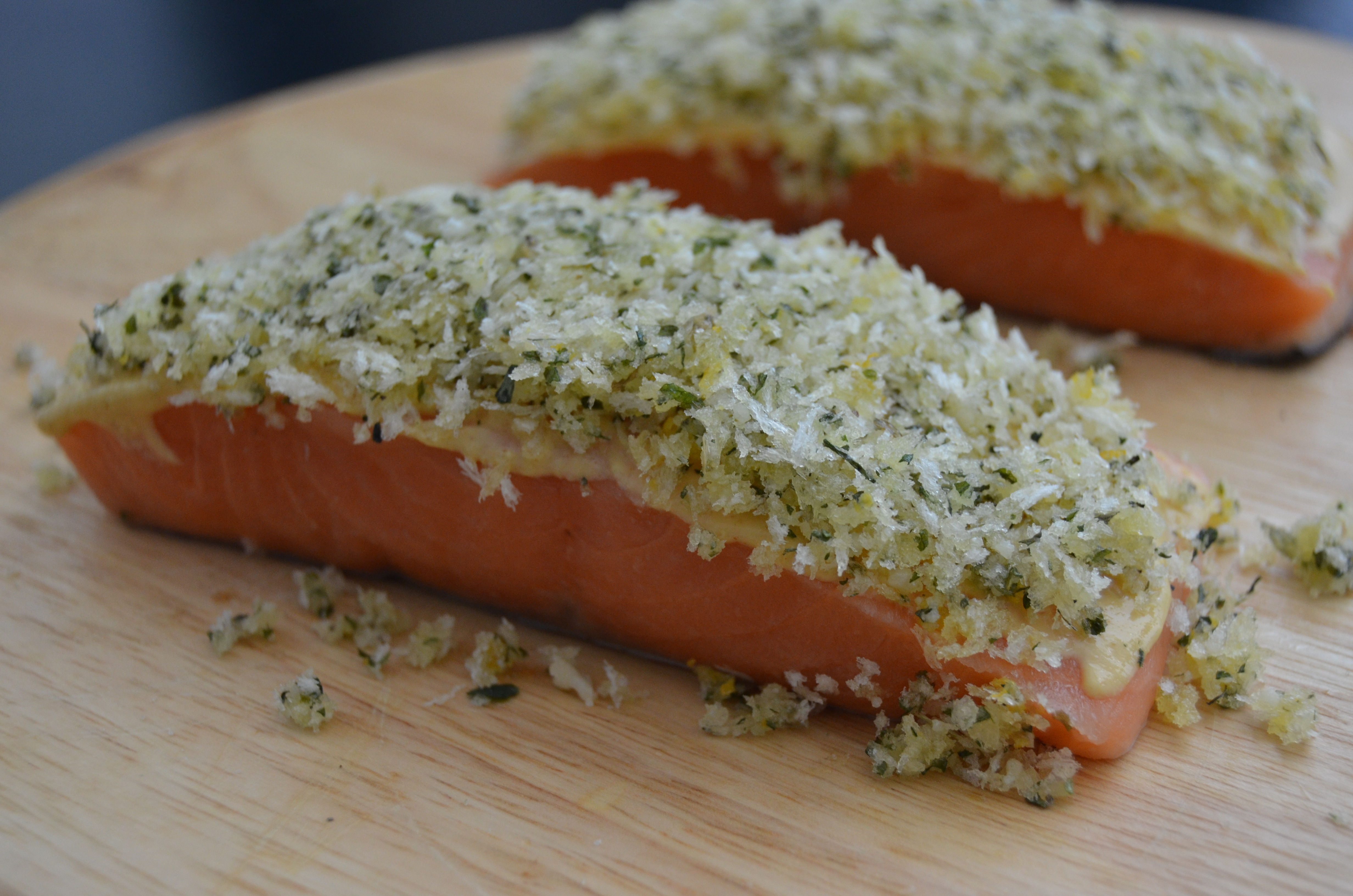 ... salmon filets skin down. Cook 3-4 minutes. Immediately transfer salmon