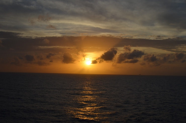 sunset from norwegian getaway