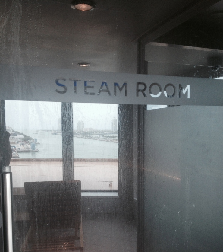 norwegian getaway steam room