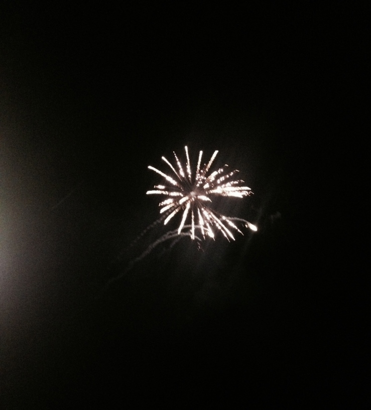 fireworks from norwegian getaway