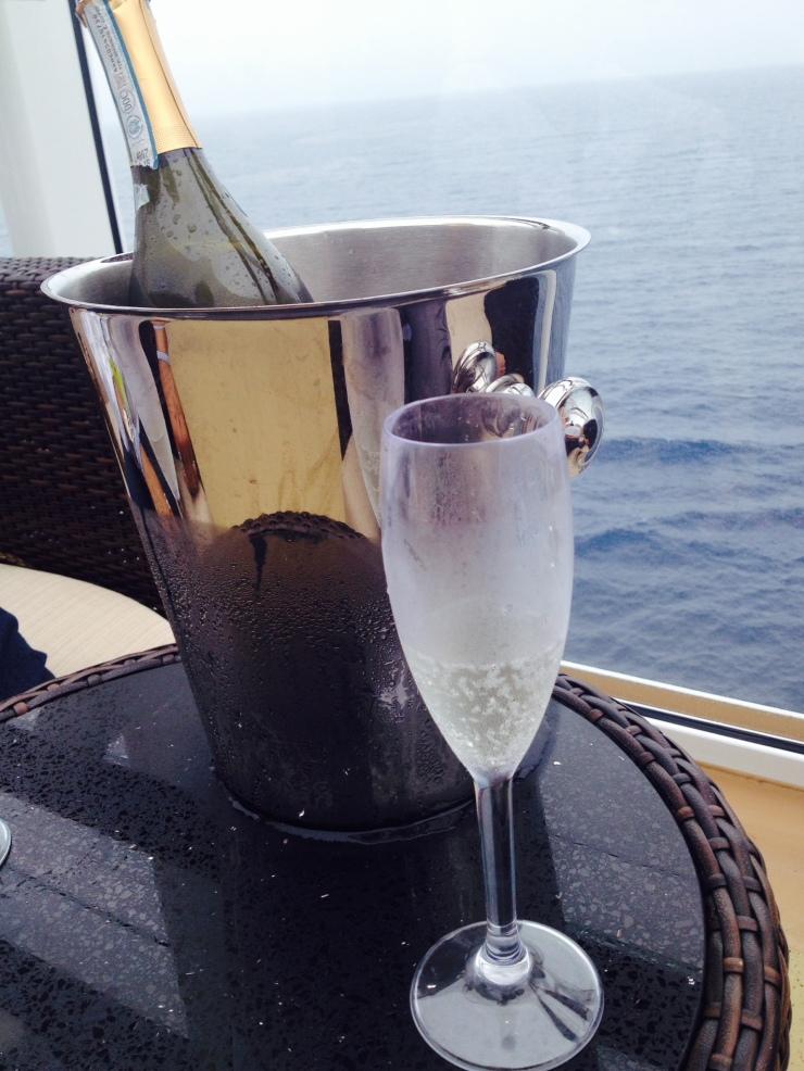 champagne on norwegian getaway