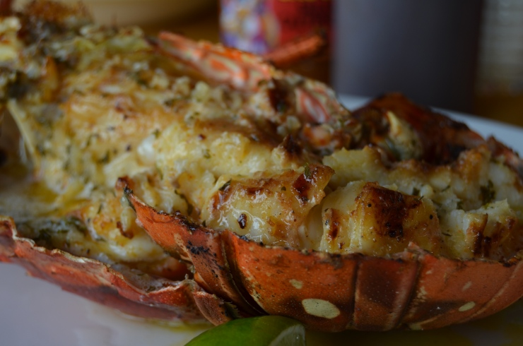grilled lobster lees roadside grill st maarten