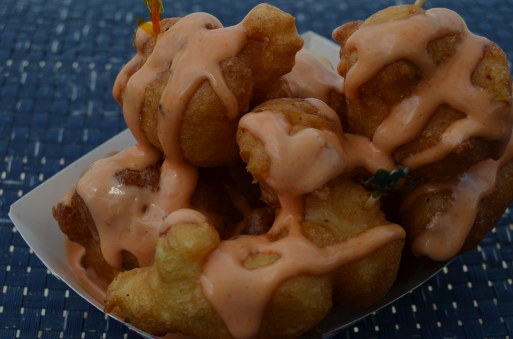 conch fritters on junkanoo beach