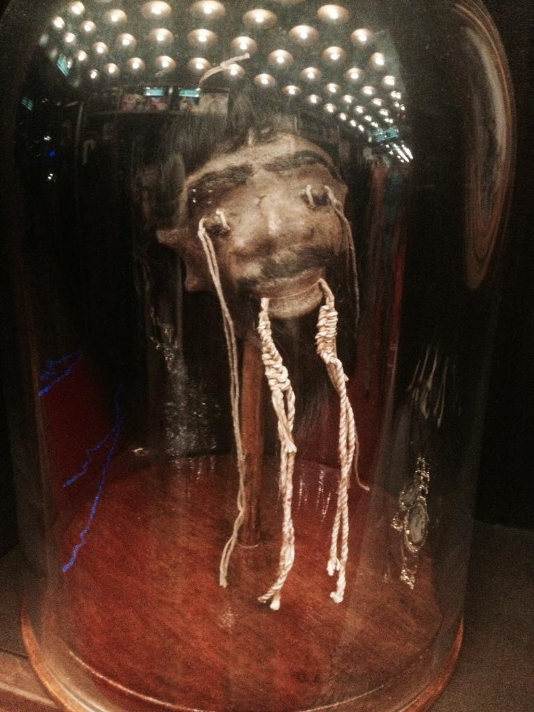shrunken head in the Illusionarium