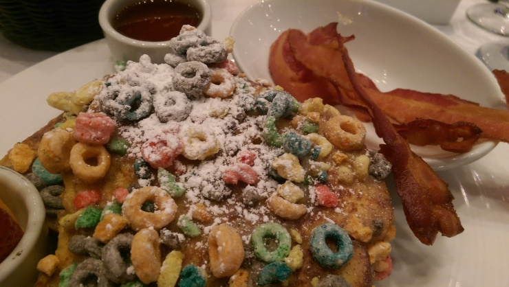 carnival sea day brunch fruit loop french toast