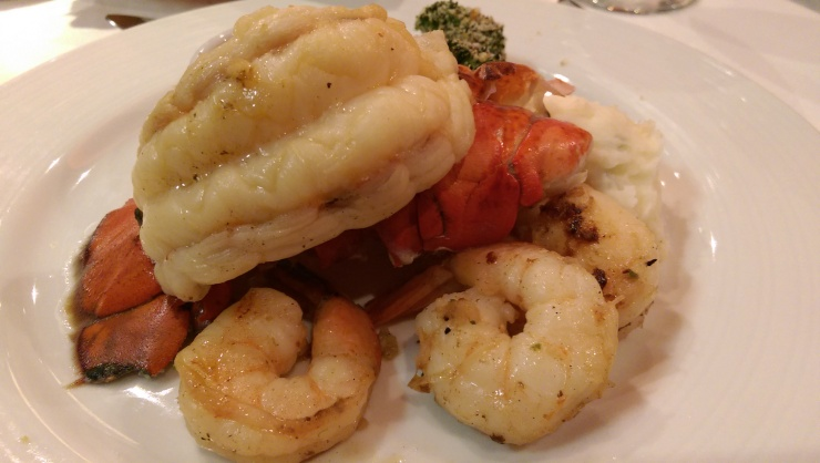 carnival conquest lobster tail and shrimp