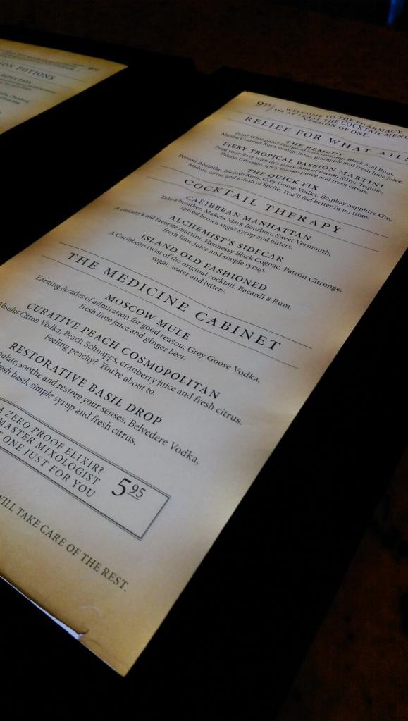 carnival alchemy bar menu