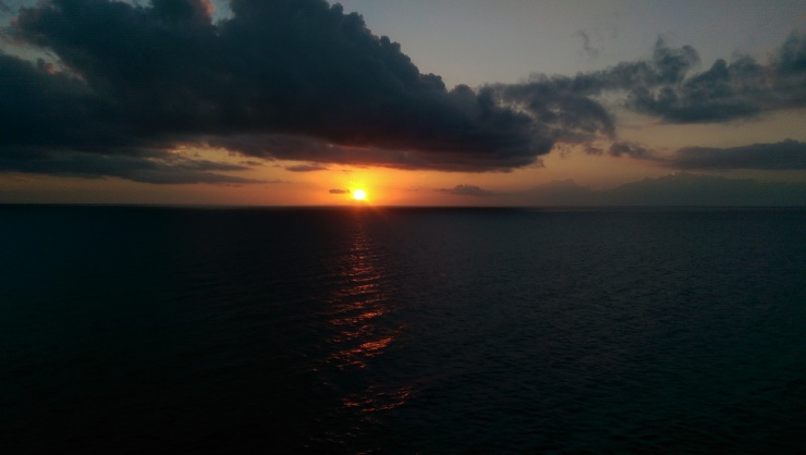 sunset on carnival conquest