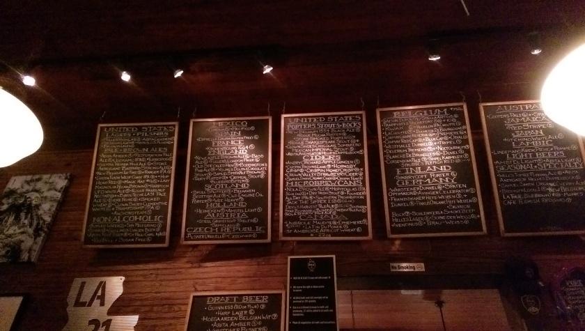 D.B.A. new orleans beer menu