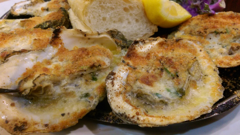 char grilled oysters at deans new orleans
