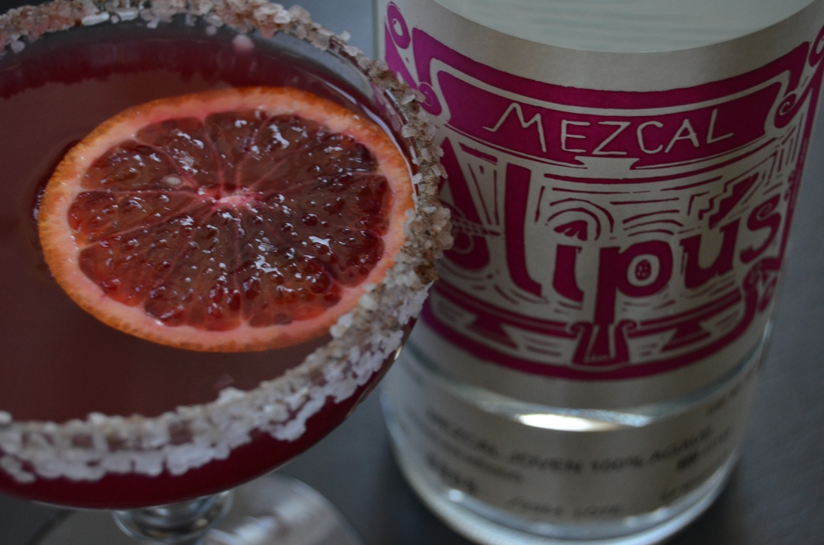 blood orange cardamom mezcal margaritas